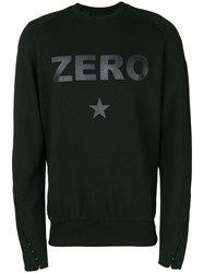 Tom Rebl Zero Slogan Sweatshirt Black