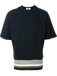 Msgm Short Sleeve Sweater Black