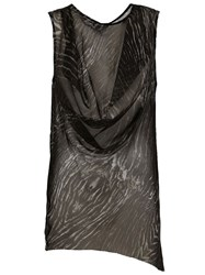 Ann Demeulemeester Draped Sleeveless Top Black