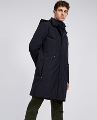Aspesi Raincoat Capace Navy Blue
