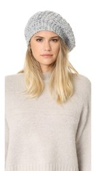 White Warren Aplaca Beret Pewter Marl