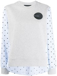 Karl Lagerfeld Dots Sweatshirt Grey