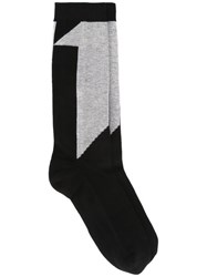 11 By Boris Bidjan Saberi Number Intarsia Socks Black