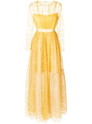 Si Jay Tulle Ball Gown Yellow And Orange