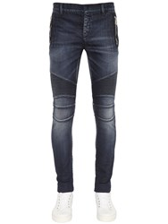 Balmain 17.5Cm Biker Stretch Denim Jeans