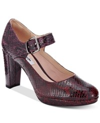 Clarks Artisan Women's Kendra Garby Mary Jane Pumps Women's Shoes Brown Snake