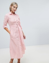 Warehouse Shirt Dress In Red Stripe