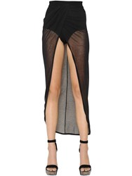 Balmain Warp Effect Sheer Gauze Skirt