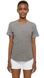 Madewell Whisper Cotton Crew Tee Heather Pewter