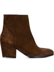 Buttero Suede Ankle Boots Brown