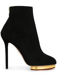 Charlotte Olympia Stiletto Ankle Boots Black