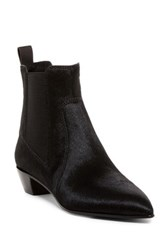 Marc By Marc Jacobs Lou Pointed Toe Genuine Calf Hair Chelsea Boot Black