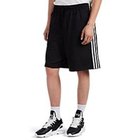 Y 3 Striped Tech Jersey Drawstring Track Shorts Black