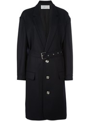 Julien David Single Breasted Coat Blue