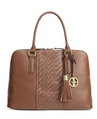 Giani Bernini Pebble Weave Dome Satchel Only At Macy's Tobacco