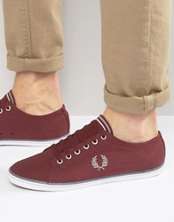 Fred Perry Kingston Twill Plimsolls Red