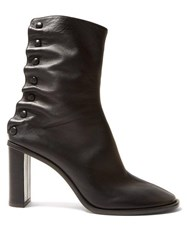 The Row Tea Time Leather Boots Black