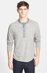 Todd Snyder Men's Classic Henley Grey Heather