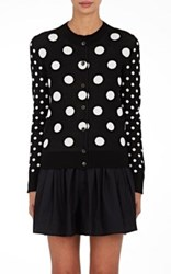 Marc Jacobs Women's Polka Dot Cotton Cardigan No Color