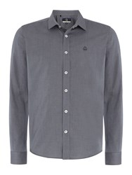 Duck And Cover Men's Birch Long Sleeve Shirt Charcoal