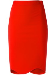 Givenchy Scalloped Hem Skirt Red