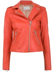 Spacenk Nk Leather Biker Jacket Red
