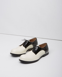 Jil Sander Two Tone Oxford Jazz Black And White
