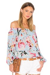 Eight Sixty Stella Off The Shoulder Top Blue