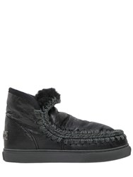 Mou 40Mm Mini Eskimo Crackled Leather Boots