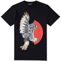 Neil Barrett Mechanical Owl Tee Black