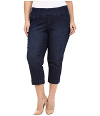 Jag Jeans Plus Size Marion Crop In Blue Shadow Comfort Denim Blue Shadow Women's Jeans
