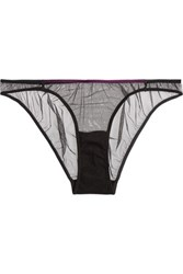 Mimi Holliday By Damaris Tulle And Satin Briefs Burgundy