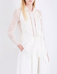 By Malene Birger Lyriena Silk Organza Shirt Frozen