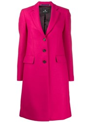 Paul Smith Ps Single Breasted Coat Pink
