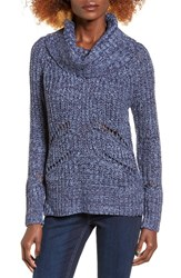 Love By Design Women's Marled Cowl Neck Pullover Eclipse