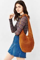 Kimchi And Blue Kimchi Blue Suede Knot Strap Hobo Bag Brown