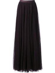Needle And Thread High Rise Draped Long Skirt Black