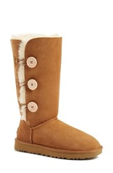 Uggr Women's Ugg 'Bailey Button Triplet Ii' Boot Chestnut Suede