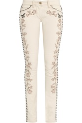 Isabel Marant Matthew Embroidered Mid Rise Skinny Jeans