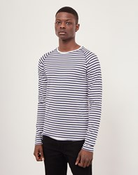 Only And Sons Stripe T Shirt Blue