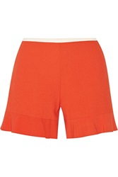 See By Chloe Fluted Stretch Crepe Shorts