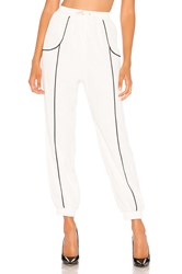 Lovers Friends Lolo Track Pant White