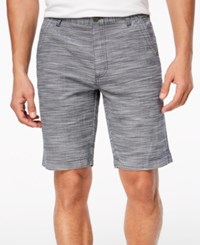 Inc International Concepts I.N.C. Flat Front Texture Stripe Shorts Basic Navy
