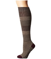 Smartwool Popcorn Cable Knee Highs Oatmeal Heather Women's Knee High Socks Shoes Beige