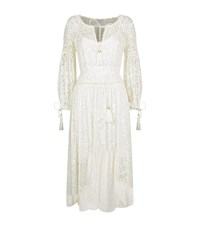 Zimmermann Long Sleeve Lace Midi Dress Female Ivory