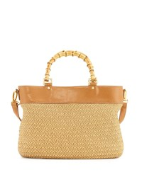 Eric Javits Analu Squishee Satchel Bag Natural