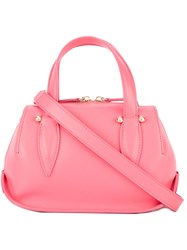 Delpozo Double Zip Mini Tote Pink Purple