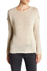 360Cashmere Krissy Knit Open Back Sweater White