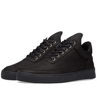 Filling Pieces Low Ripple Nubuck Perforted Sneaker Black