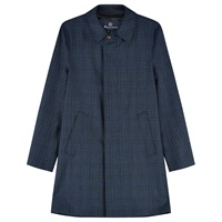 Aquascutum London Aquascutum Church Check Raincoat Blue